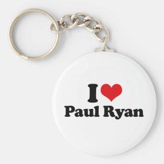 I LOVE PAUL RYAN (2).png Basic Round Button Keychain