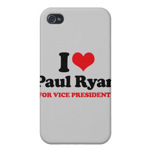 I LOVE PAUL RYAN FOR VICE PRESIDENT.png Case For iPhone 4