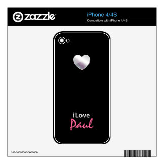 I Love Paul Skins For iPhone 4S