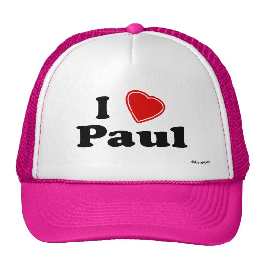 I Love Paul Trucker Hat