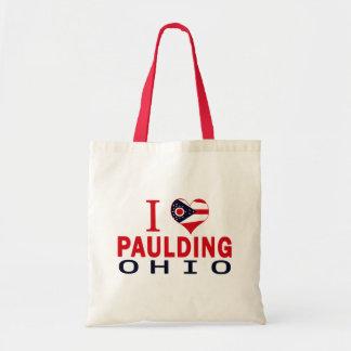 I love Paulding, Ohio Canvas Bags