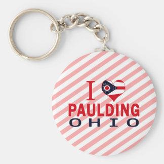 I love Paulding, Ohio Key Chain