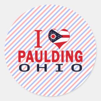 I love Paulding, Ohio Classic Round Sticker