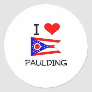 I Love Paulding Ohio Classic Round Sticker