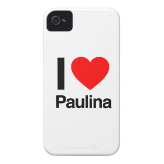 i love paulina iPhone 4 Case-Mate case