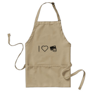 I Love Payment For Credit Cards Adult Apron