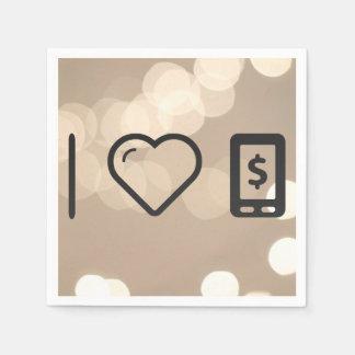 I Love Payment Method Online Standard Cocktail Napkin