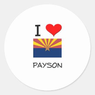 I Love PAYSON Arizona Classic Round Sticker