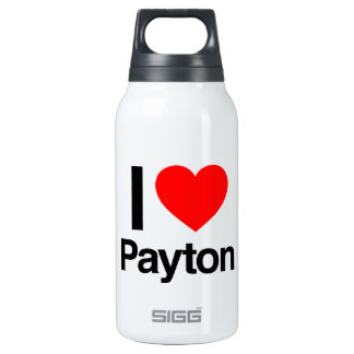 i love payton 10 oz insulated SIGG thermos water bottle