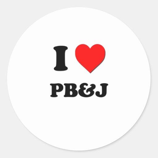 I Love Pb&J ( Food ) Stickers