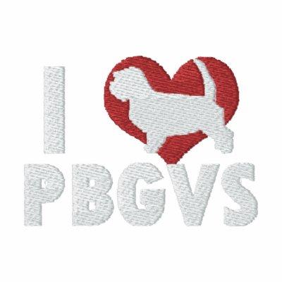 I Love PBGVs Embroidered T-Shirt