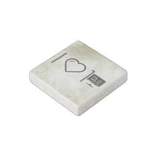 I Love Pci Connectors Stone Magnet
