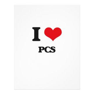 I Love Pcs Flyer Design