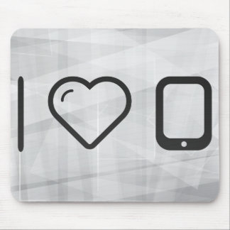I Love Pda Devices Mouse Pad