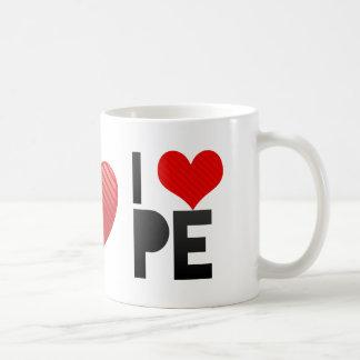 I Love PE Coffee Mug