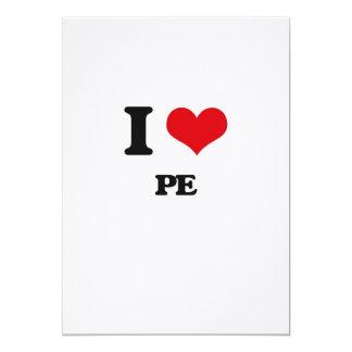 I Love Pe 5x7 Paper Invitation Card