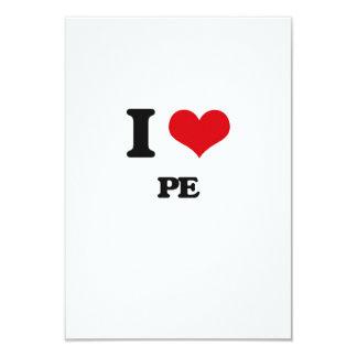 I Love Pe 3.5x5 Paper Invitation Card