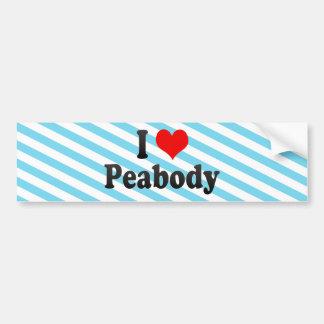 I Love Peabody, United States Car Bumper Sticker