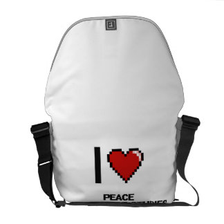 I Love Peace And Justice Studies Digital Design Courier Bags
