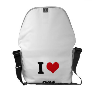 I Love Peace And Justice Studies Messenger Bags
