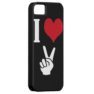 I Love Peace iPhone 5 Covers