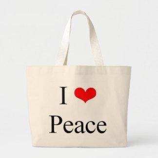 I Love Peace Large Tote Bag