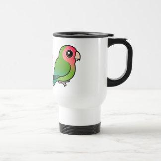 I Love Peach-faced Lovebirds 15 Oz Stainless Steel Travel Mug