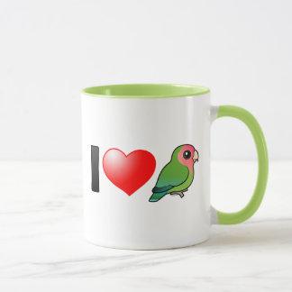 I Love Peach-faced Lovebirds Mug