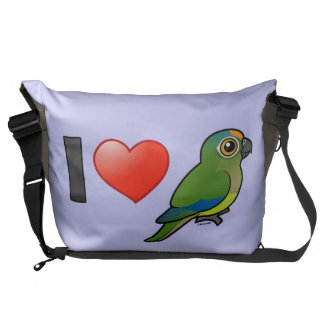 I Love Peach-fronted Conures Courier Bag
