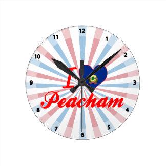 I Love Peacham, Vermont Round Wallclocks