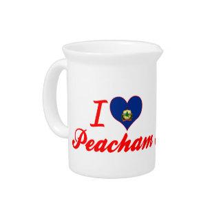 I Love Peacham, Vermont Pitcher