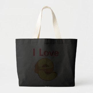 I Love Peaches Canvas Bags