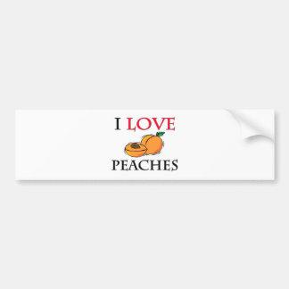 I Love Peaches Car Bumper Sticker