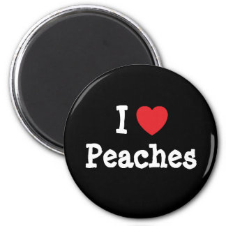 I love Peaches heart T-Shirt 2 Inch Round Magnet