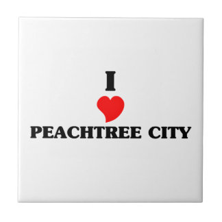 I love Peachtree City Small Square Tile
