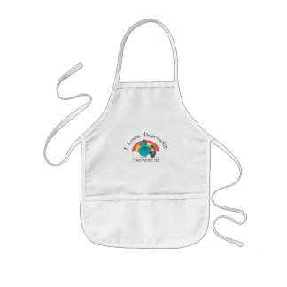 I love peacocks deal with it kids' apron