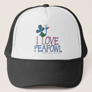 I Love Peafowl Trucker Hat