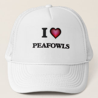 I Love Peafowls Trucker Hat