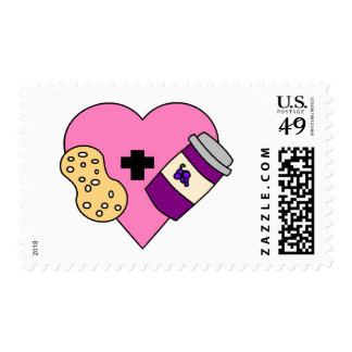 I love Peanut Butter and Jelly Postage Stamp