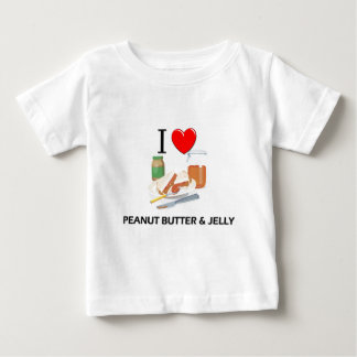 I Love Peanut Butter & Jelly Tee Shirts