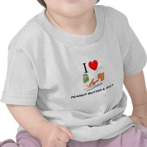 I Love Peanut Butter & Jelly Shirt