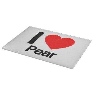 i love pear cutting board