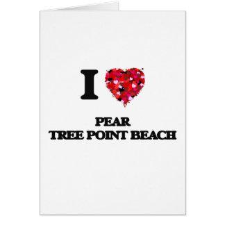 I love Pear Tree Point Beach Connecticut Greeting Card