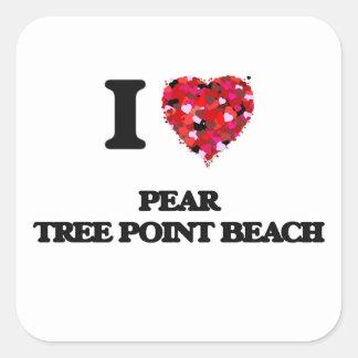 I love Pear Tree Point Beach Connecticut Square Sticker