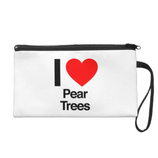 i love pear trees wristlet clutches