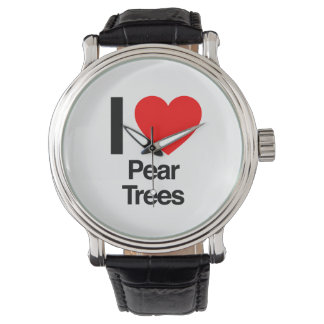 i love pear trees wristwatch
