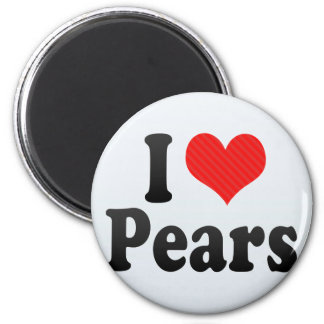 I Love Pears 2 Inch Round Magnet
