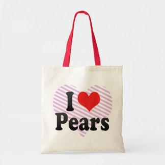 I Love Pears Budget Tote Bag