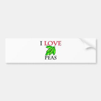 I Love Peas Bumper Sticker
