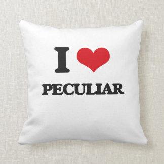 I Love Peculiar Throw Pillow